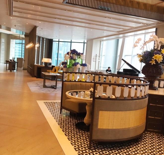 The elegant Lounge at Four Seasons KL