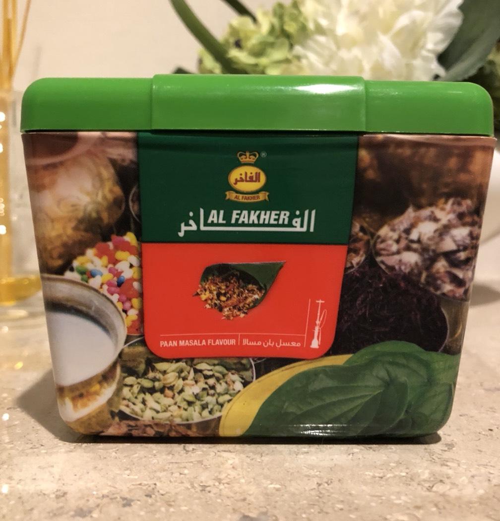 Al Fakher / Pan Masala(香り自体はPan Razna系の典型だが、煙の質が悪い)