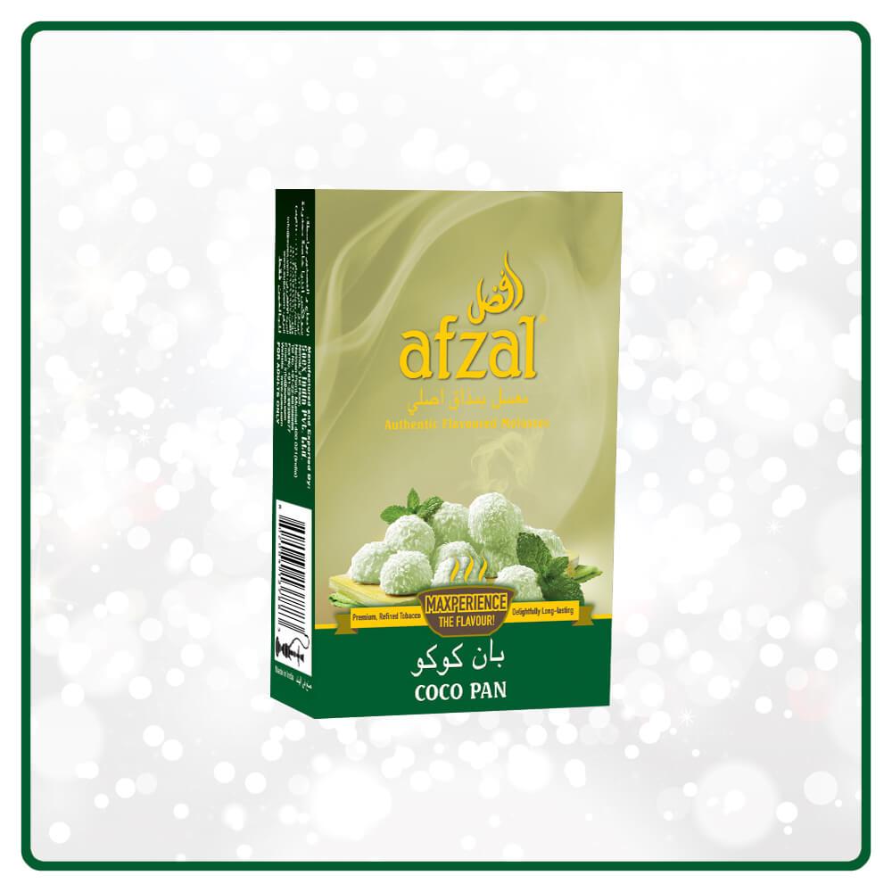 Afzal / Coco Pan(シャープな清涼感とマッタリした甘めのCoconut系のMixに、Pan Razna系のアクセント)