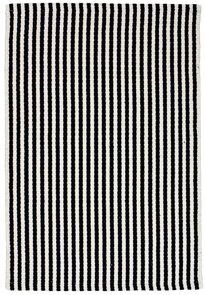 Chester Eco Cotton Rug Black White Hook Loom