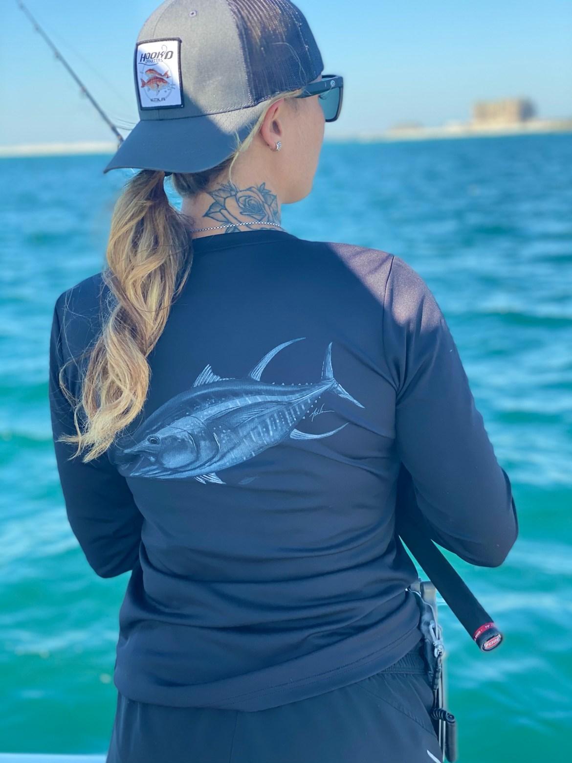 Ladies Hook'D Performance Black Yellowfin Tuna