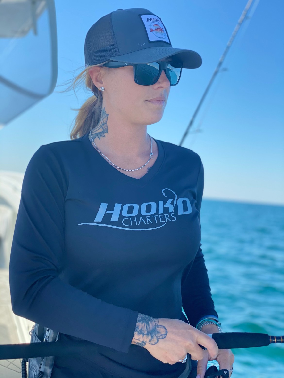 Ladies Hook'D Performance Black Yellowfin Tuna