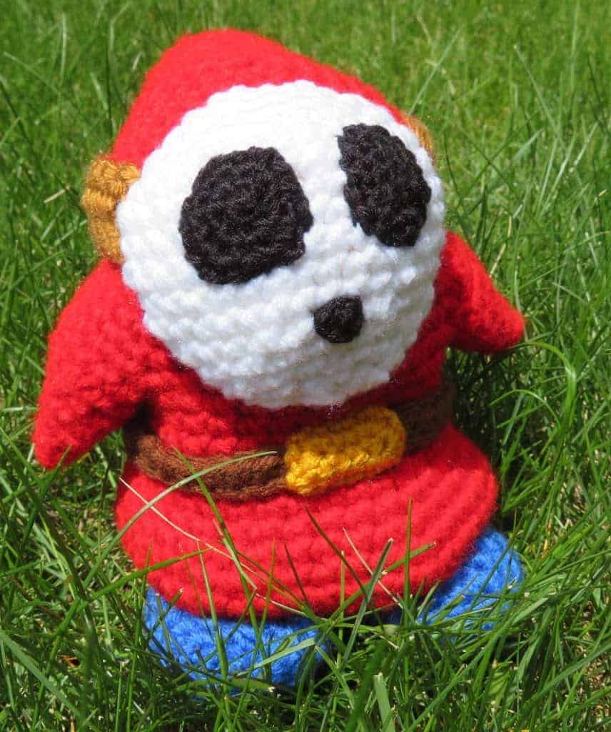 Shy Guy Crochet Pattern | Hooked by Kati