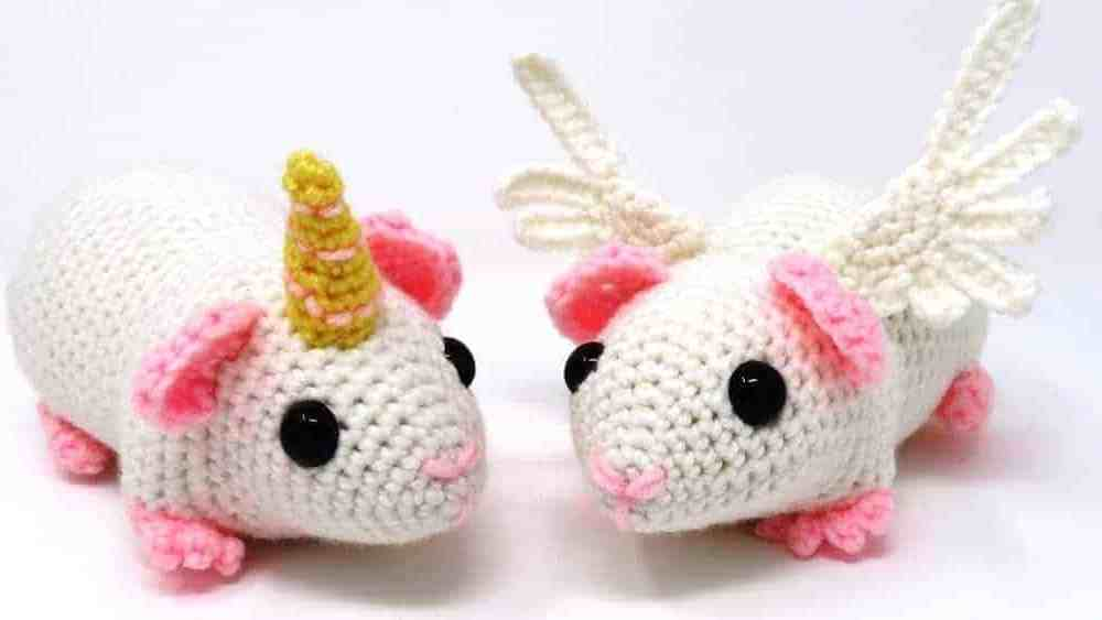 Guineacorn and Pigasus | Free Crochet Pattern | Hooked by Kati