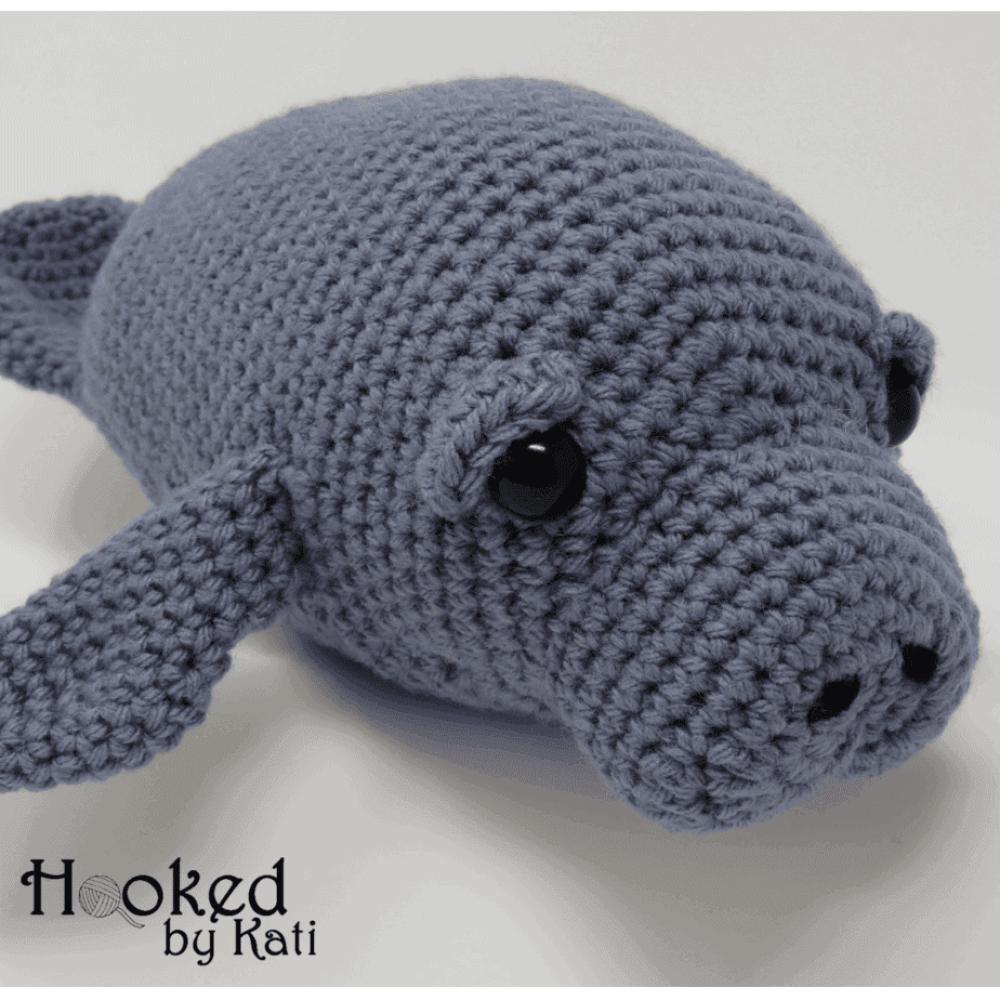 Manatee Amigurumi Free Crochet Pattern Hooked By Kati