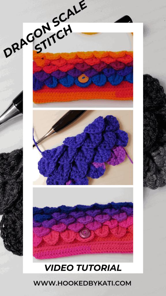 Crocodile Dragon Scale Stitch Crochet Video Tutorial | Hooked by Kati