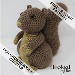 Hygge Squirrel free amigurumi crochet pattern for Underground Crafter