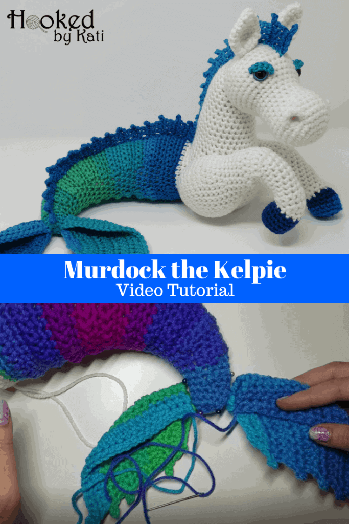 This a video tutorial for Murdock the Kelpie, a crochet amigurumi from Hooked by Kati. The tutorial is in two parts.