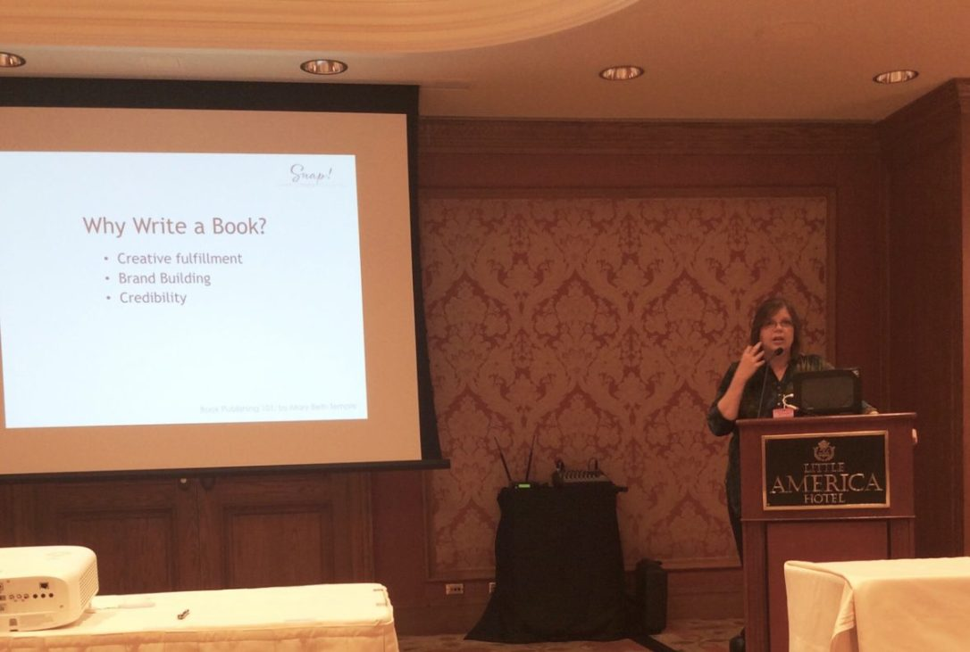 Mary Beth Temple teaching a class on book publishing at Snap Conference 2018