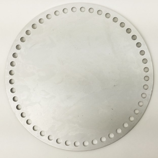 "8"" Round Aluminum Basket Base for Crochet and Knitting"