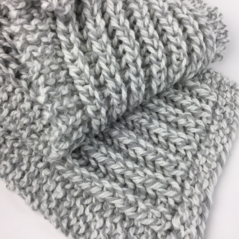 fisherman's rib free knit scarf pattern hooked for life 2