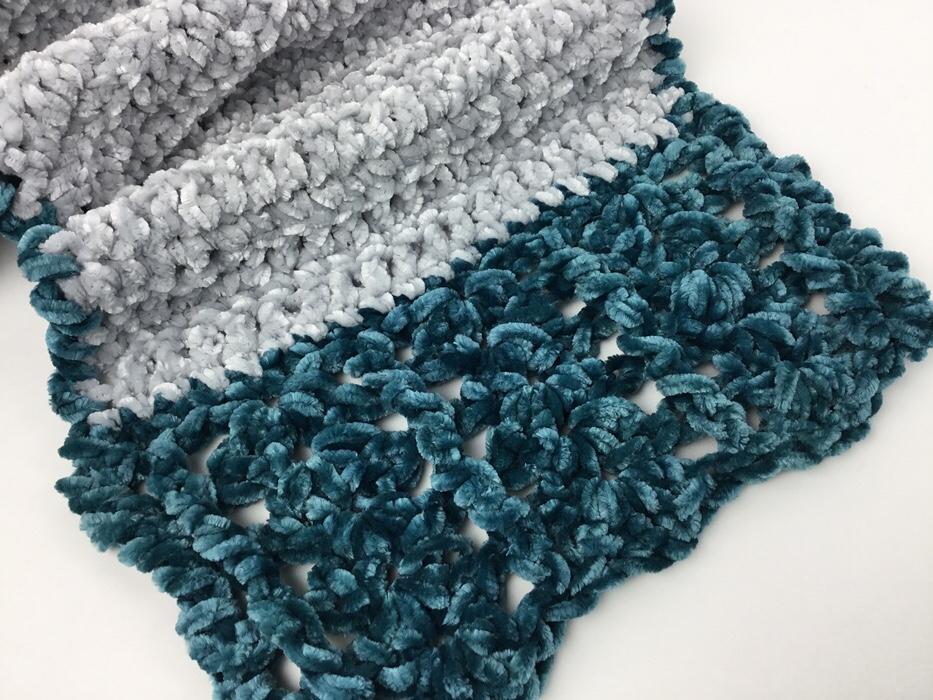 Victorian Velvet Scarf Free Crochet Pattern Hooked for Life Publishing