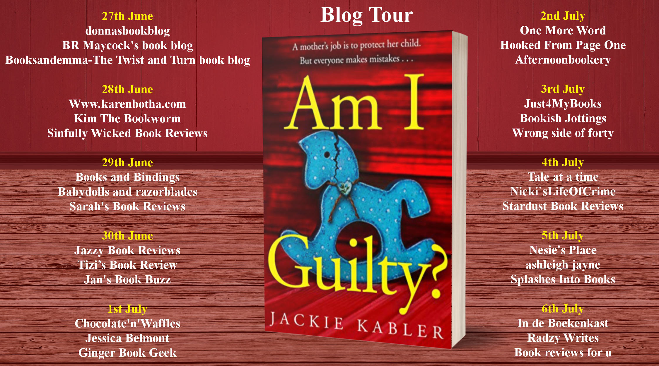 Am I Guilty Full Tour Banner