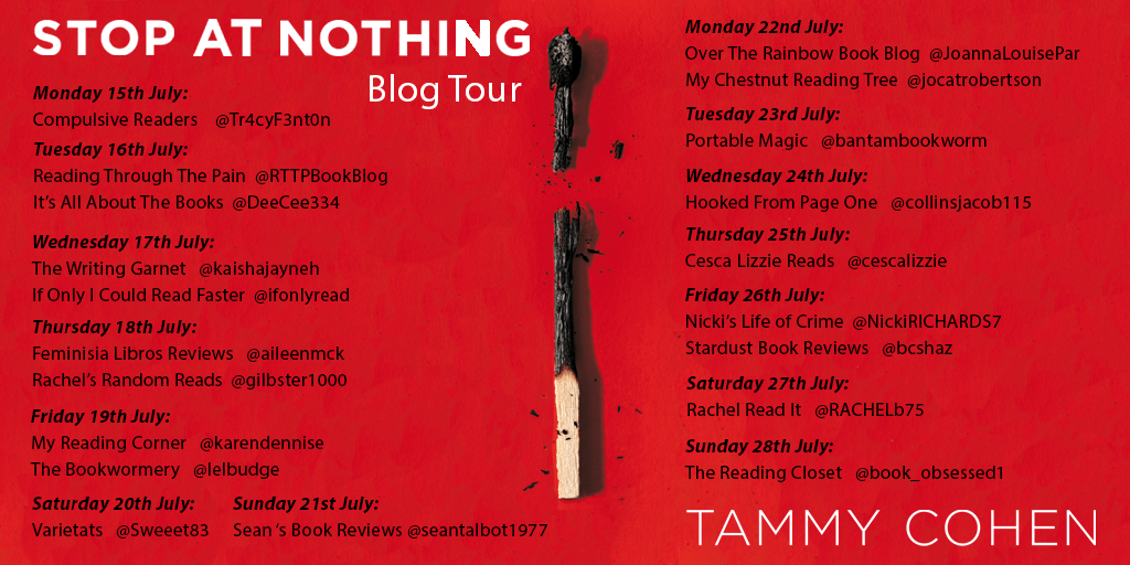 Stop At Nothing blog tour poster