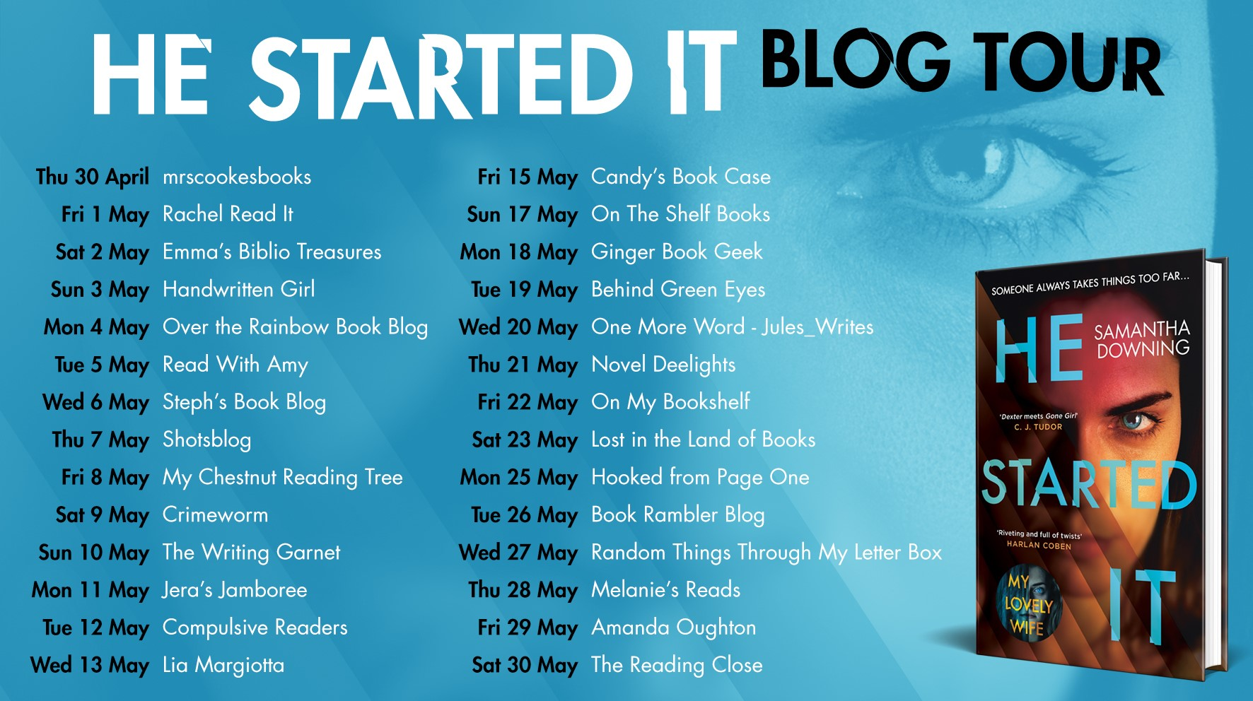 He Started It blog tour graphic