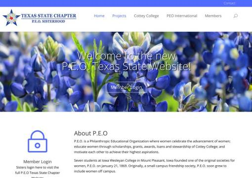 PEO Texas State Chapter Website Redesign