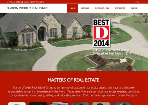 Sharon Worthy Real Estate Group – Keller Williams Website Creation
