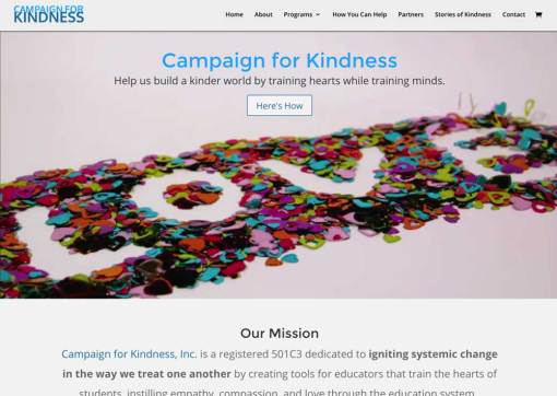 We Train Hearts / Campaign For Kindness – Non-Profit Website Creation