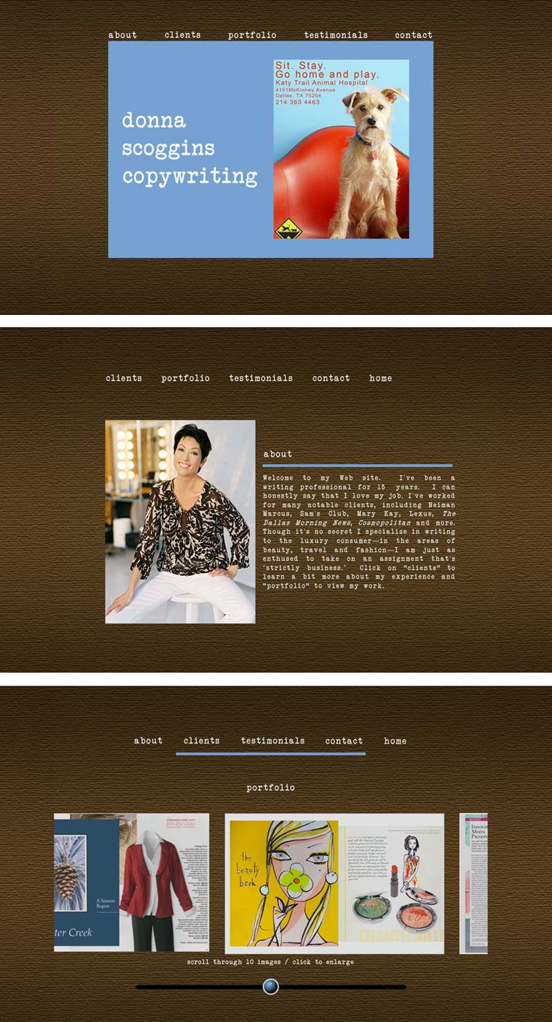 Donna Scoggins old website