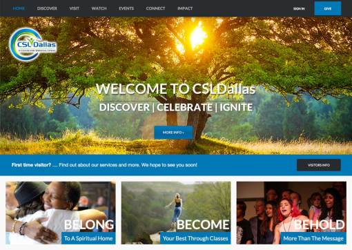 Center for Spiritual Living – Dallas, Website Redesign