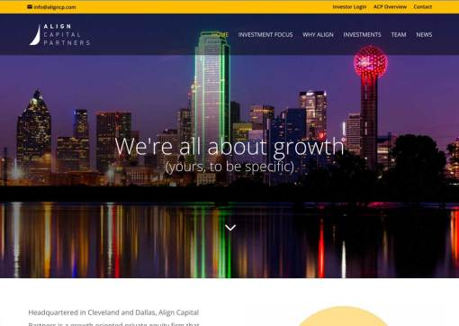 Align Capital Partners – Private Equity Firm Website Creation