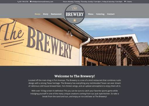 Port Aransas Brewery – Website Creation