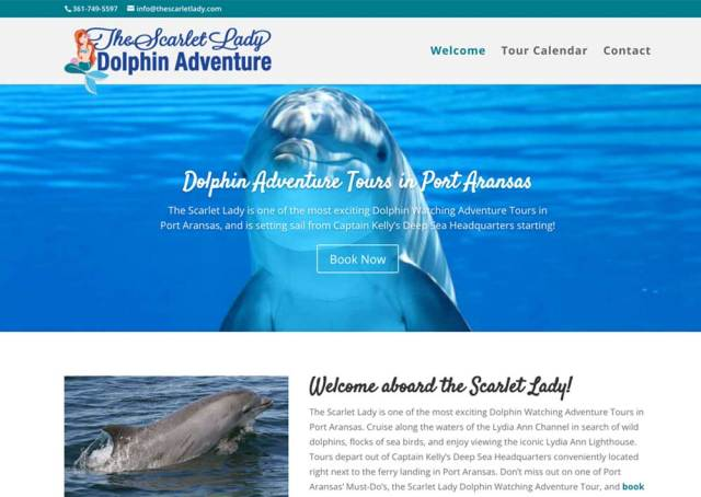 Scarlet Lady Dolphin Cruises Tour Booking Website Creation