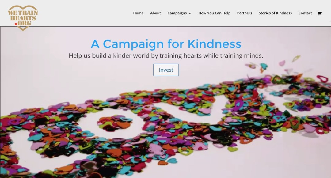 We Train Hearts homepage after new logo
