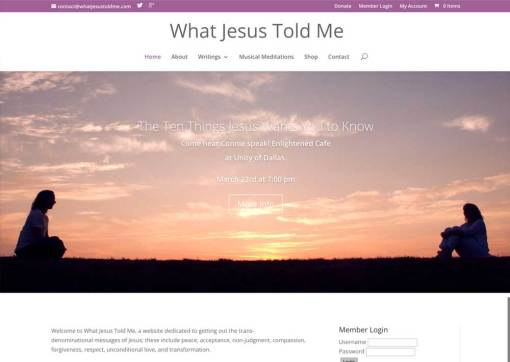 What Jesus Told Me – Business Development and Subscription Website Creation