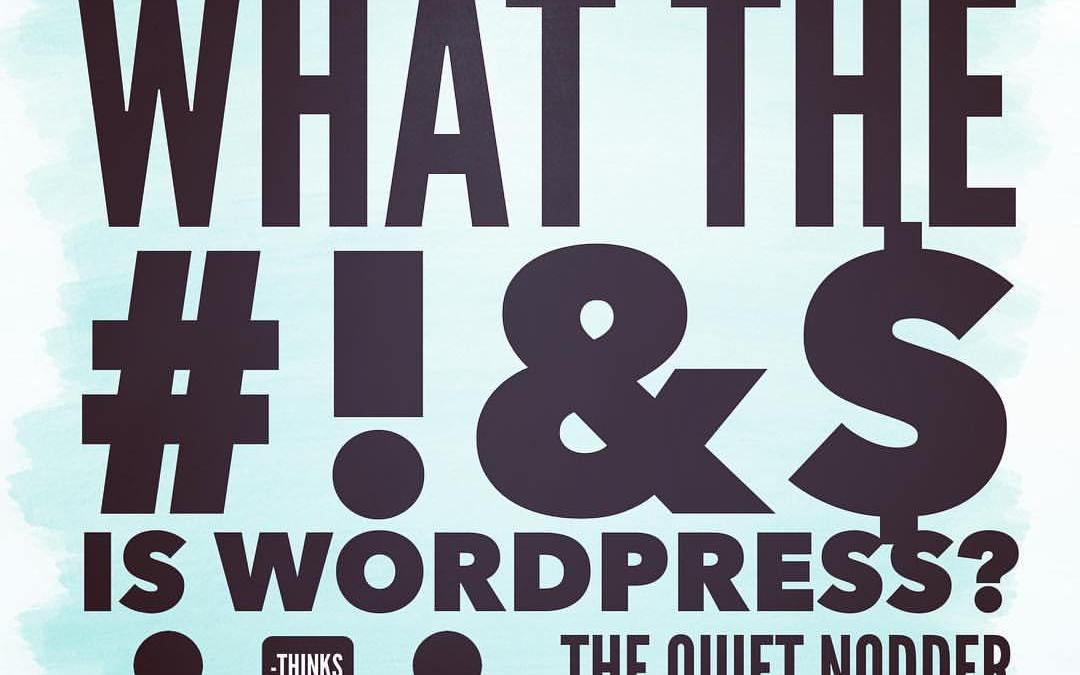 What the @#$% is WordPress?