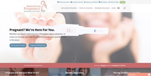 American Pregnancy Association | Website Redesign