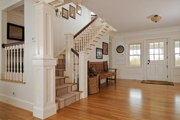 Replica Of Grey Gardens House In Cape Cod-staircase