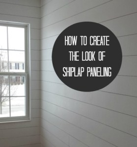 How to Hang  Fake  Shiplap Paneling How to Hang  Fake  Shiplap in Your House   hookedonhouses net