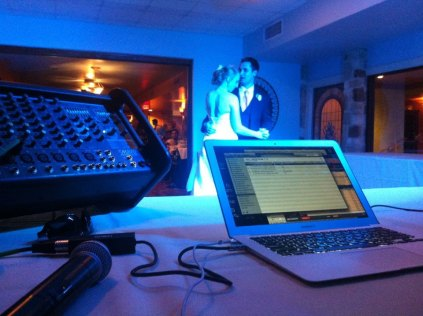 View from the DJ Booth - my last gig