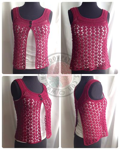 Lace Vest Crochet Pattern