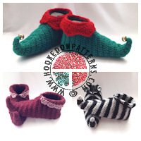 Christmas crochet patterns - Elf Shoes Crochet Pattern