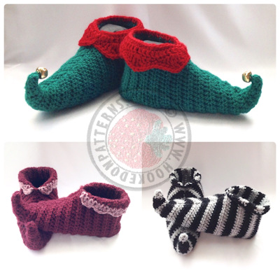 Curly Toes Slipper Shoes Crochet Pattern