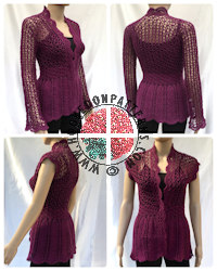 Crochet Patterns to Wear - Flory Lace Cardigan