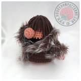 Free crochet doll patterns - Eve's Wardrobe Fur Trim Coat
