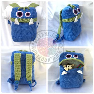 Knapsack Crochet Pattern - Monsters