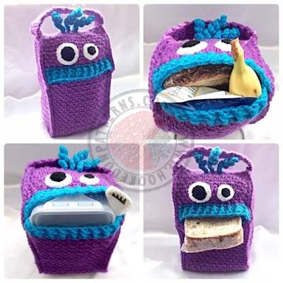 Lunch bag Crochet Pattern - Monsters