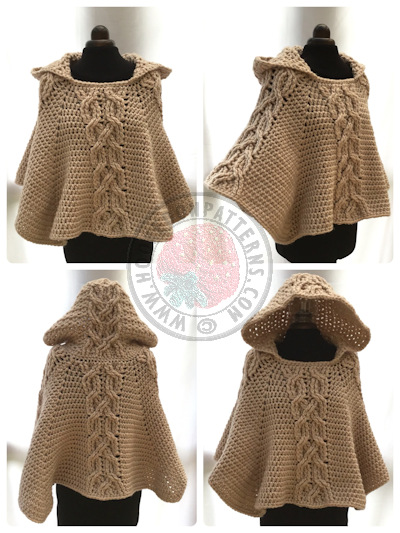 Hooded Poncho Crochet Pattern – Milena