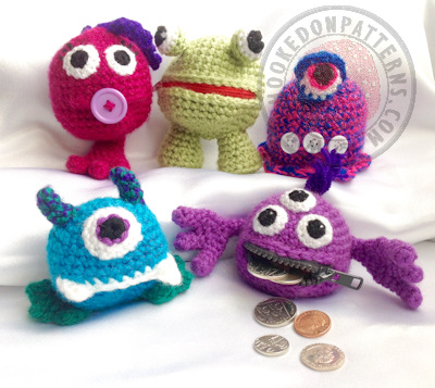 Money Monsters Coin Purse Crochet Pattern