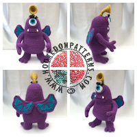 Free crochet patterns - Purple People Eater Free Crochet Pattern