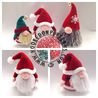 Christmas crochet patterns - Santa Gonk