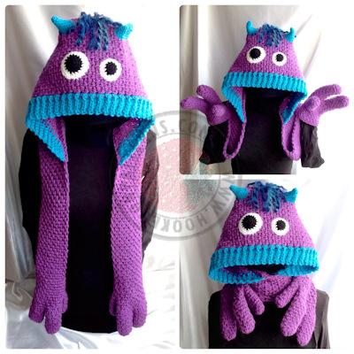 Kids Scarf Crochet Pattern – Snuggle Monsters