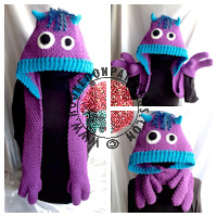Crochet Patterns for Kids - Monster Scarf