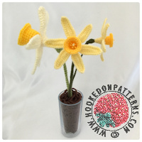 Free crochet patterns - Spring Daffodils Crochet Pattern