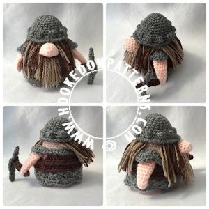 Dwarf Free Crochet Pattern - Gonk