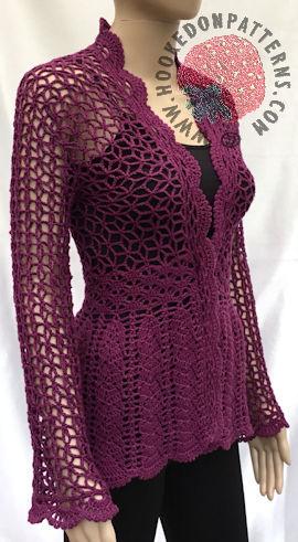 Lace Cardigan Crochet Pattern